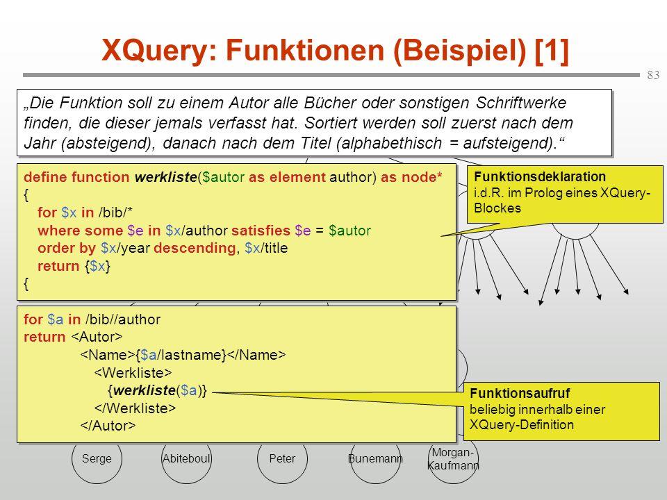 XQuery: Funktionen (Beispiel) [1]